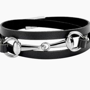 Bracelet- NEW- Silver Snaffle Bit Horse Equestrian